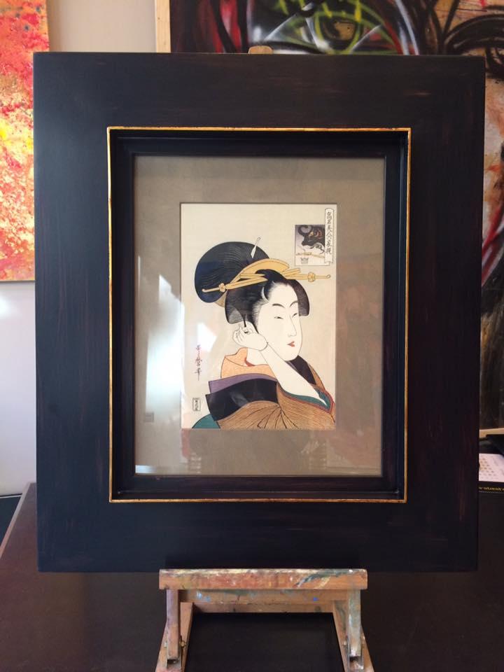 Una exquisita pieza Japonesa enmarcada. #arte #cuadros #Zaragoza #enmarcaciones #decoracion #MarisaCervantes #marcos #japon
