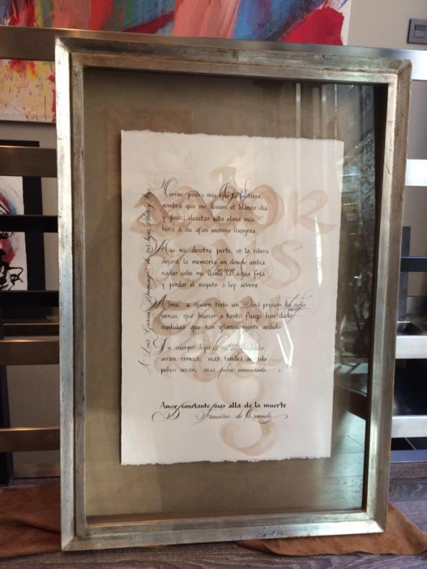 Un poema enmarcado #arte #Zaragoza #cuadros #decoracion #enmarcaciones #MarisaCervantes