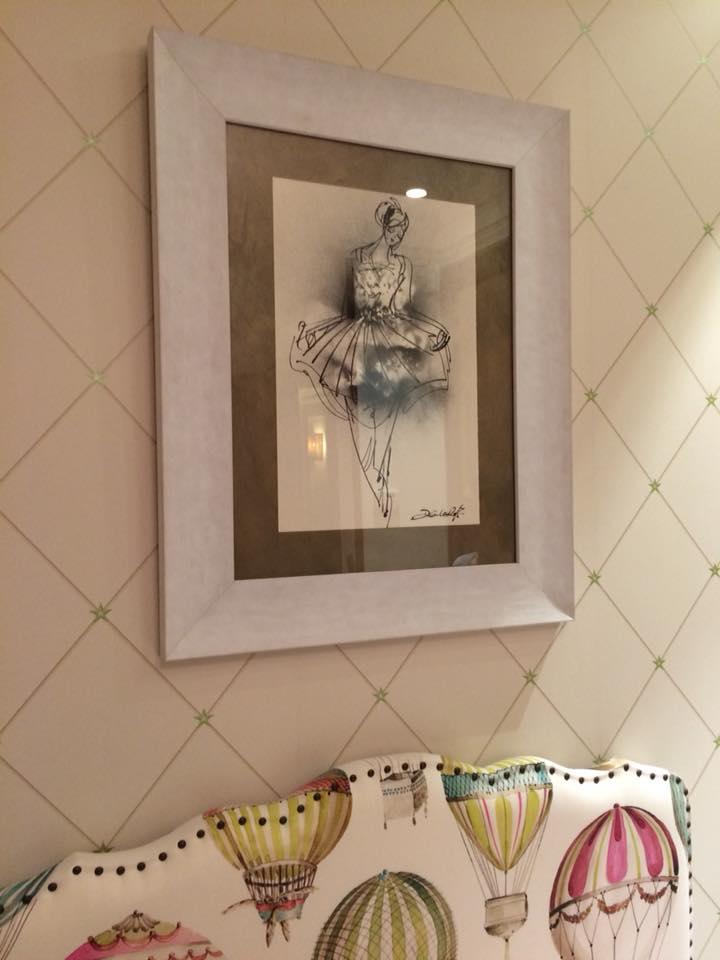 Colocado en casa del cliente. Obra enmarcada de David Callau Gené