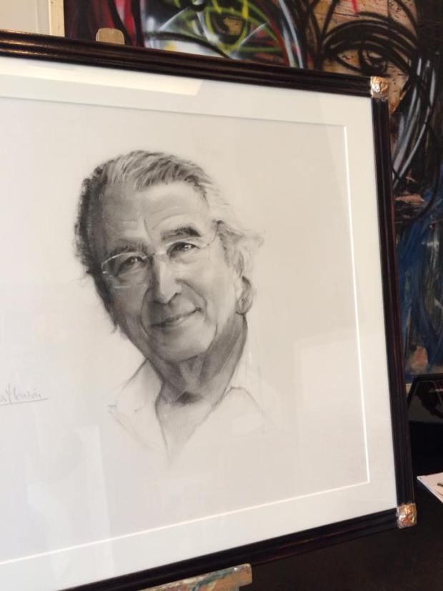 Un magnífico retrato a lápiz. Autor: Fernando García Monzon #retrato #lapiz #dibujo #arte #cuadros #Zaragoza #decoracion #MarisaCervantes