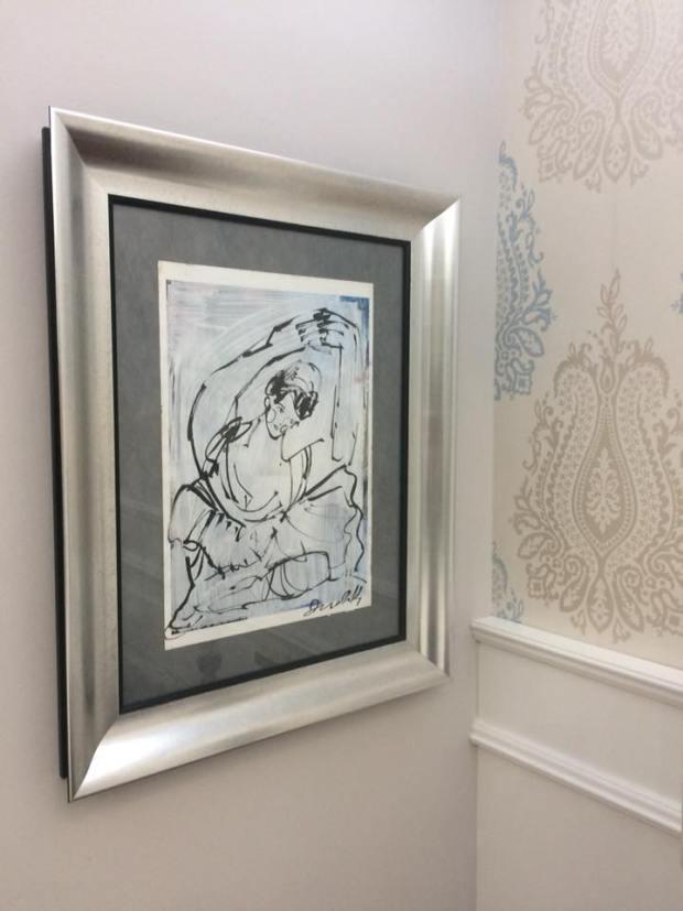Cuadro terminado y colocado en casa del cliente #arte #zaragoza #cuadros #decoracion #marcos #enmarcaciones #MarisaCervantes
