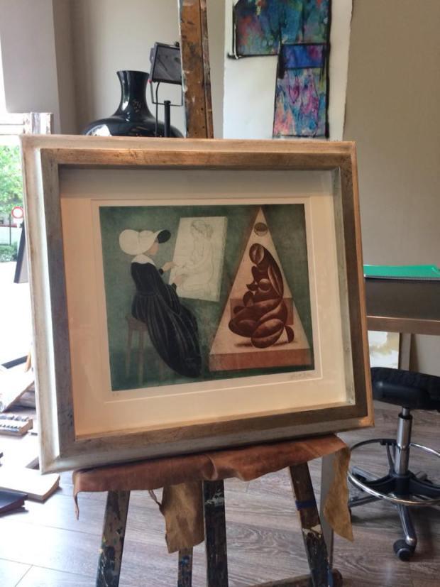 Una preciosa obra enmarcada de Alberto Duce #arte #cuadros #Zaragoza #MarisaCervantes #decoracion