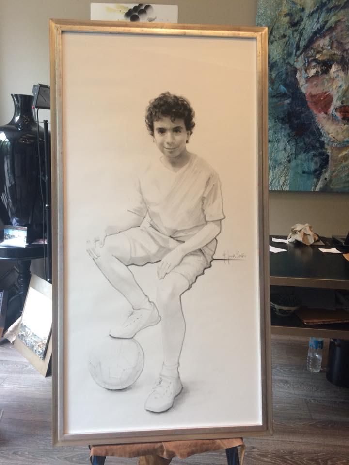 Magistral. Retrato a lápiz. Autor Fernando García Monzon #arte #cuadros #Zaragoza #MarisaCervantes #decoracion