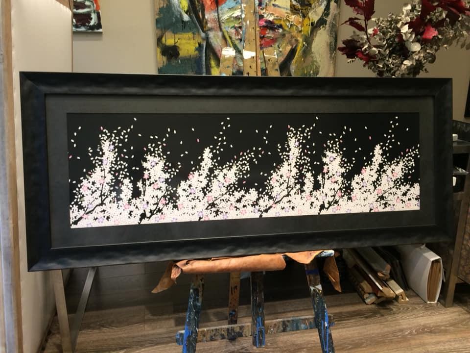 Un Pañuelo enmarcado. Será para un cabecero de cama #cuadros #arte #Zaragoza #enmarcaciones #MarisaCervantes #decoracion