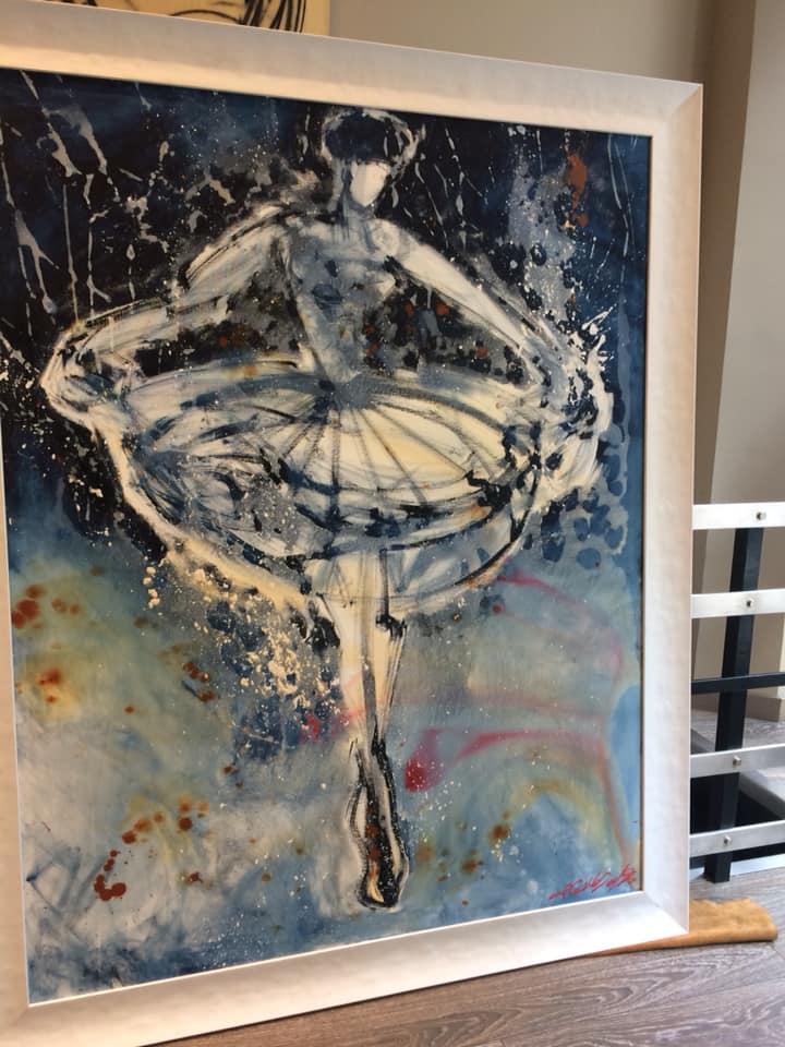 En el Lago (Suite 3) una obra enmarcada de David Callau Gene
