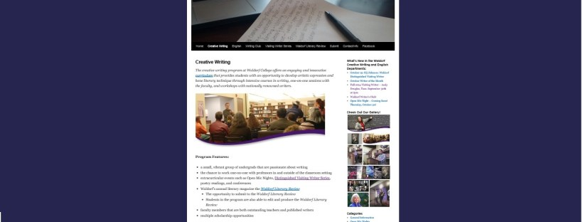 Waldorf College Writing Website