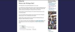Writing Club Page