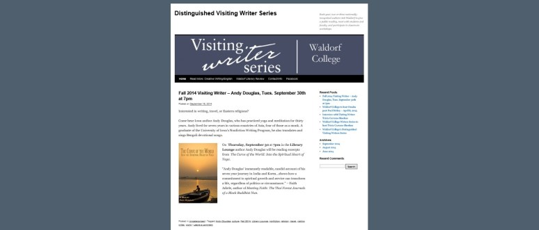 Visiting Writer Website