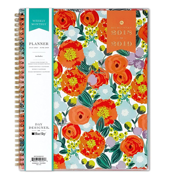 Day Planner with flowers