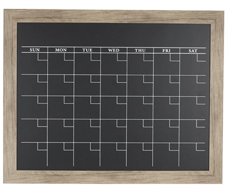 wooden magnetic chalkboard