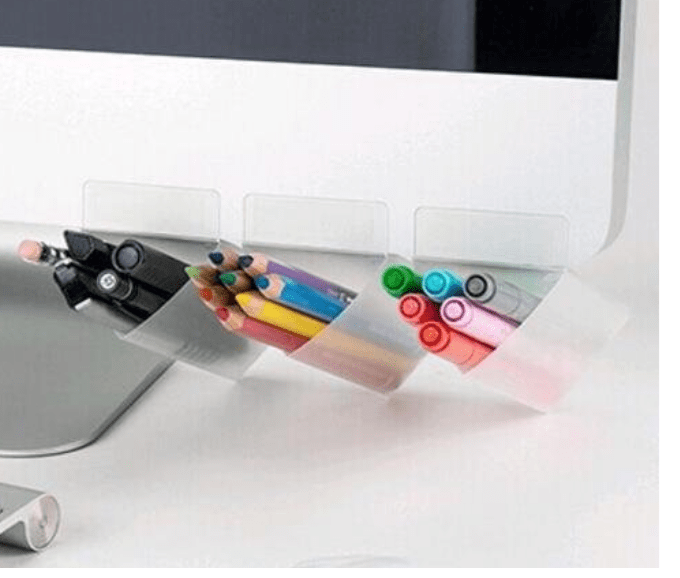 pencil holders, adhere to screen
