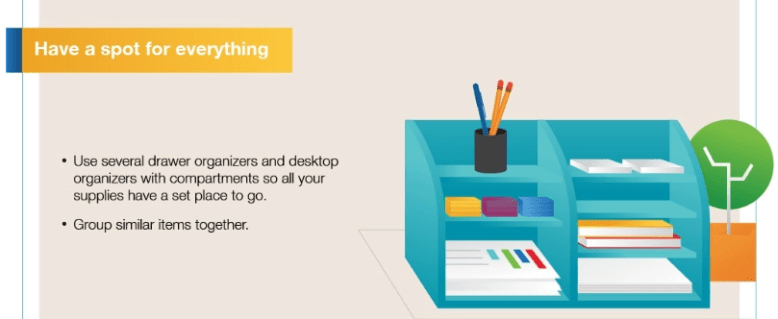 have a spot for everything infographic