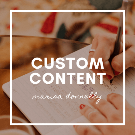 custom content by marisa donnelly