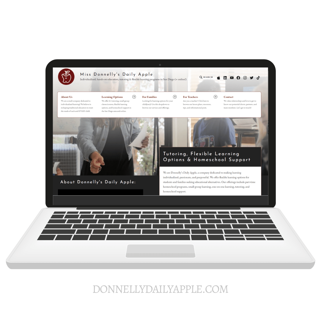 Donnelly Daily Apple, website by Marisa Donnelly