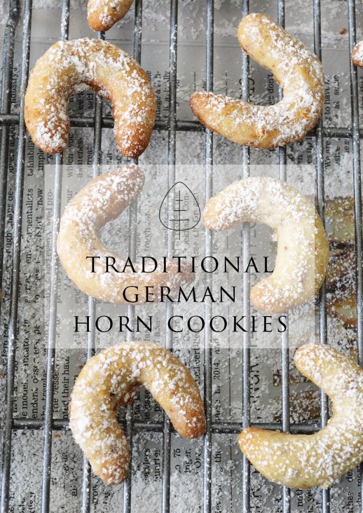 Traditional German Horn Cookies