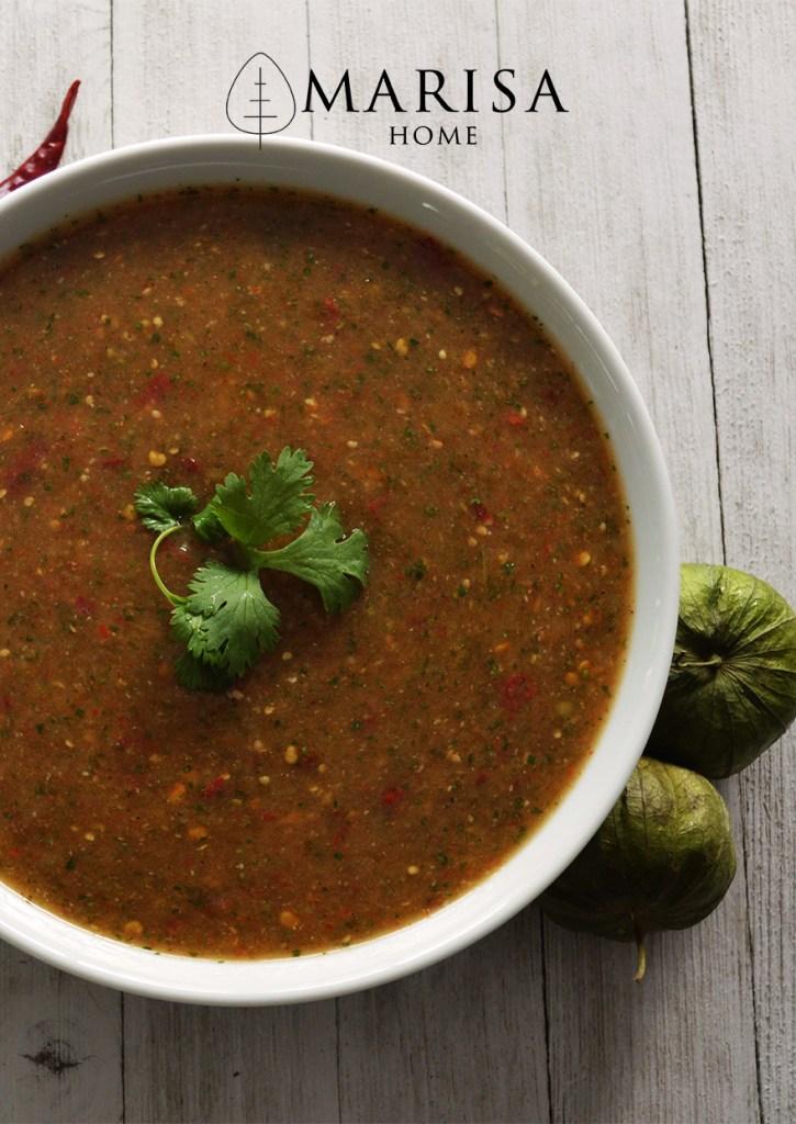 Tomatillo Chile de Arbol Salsa