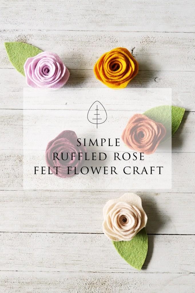 felt flowers diy no sew