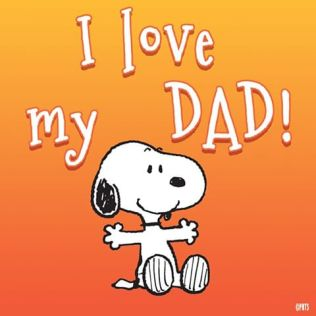 snoopy i love dad
