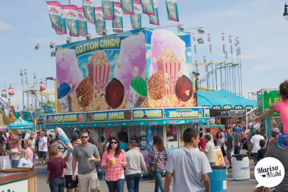 cotton candy at the state fair of oklahoma