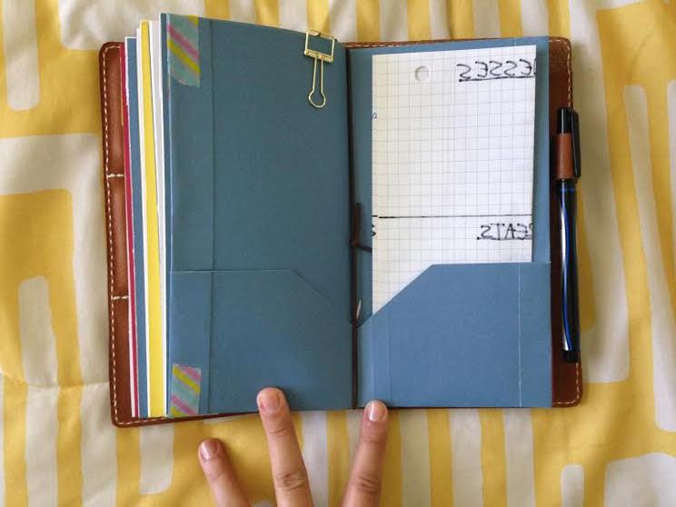 Homemade Midori folder