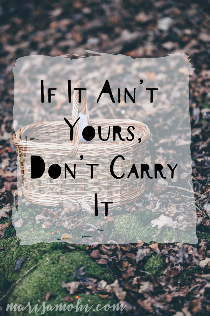 If it ain't yours, don't carry it.