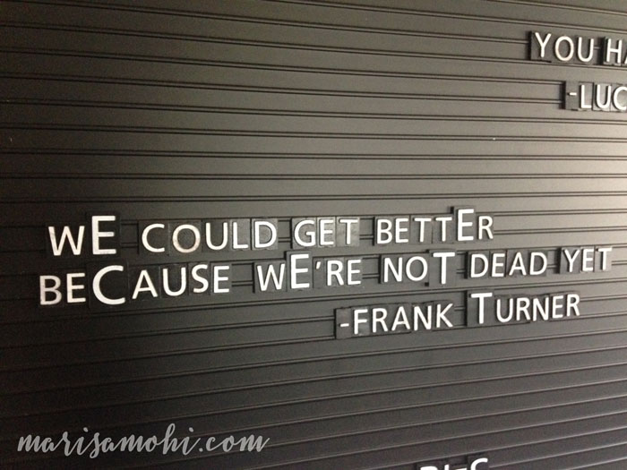 Letter Board Quotes - Frank Turner