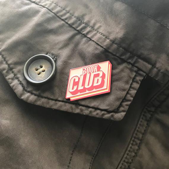 Book Club enamel pin