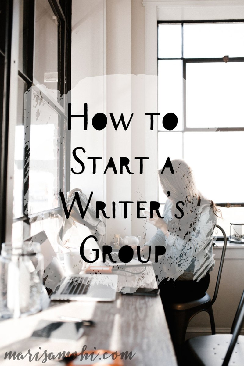 How to Start a Writer's Group