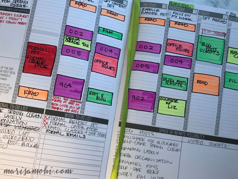 Using Highlighters in the Passion Planner