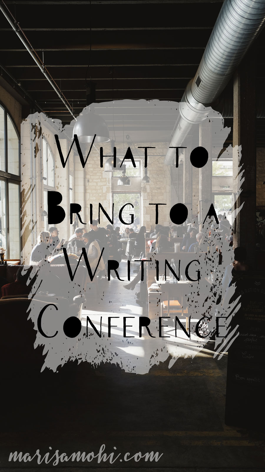 What to Bring to a Writing Conference