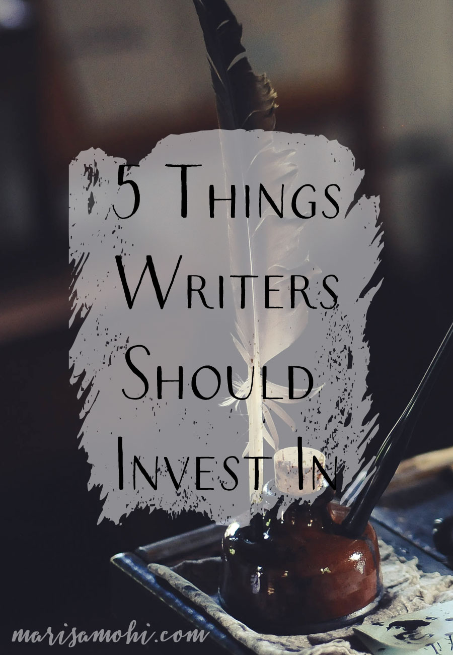 5 Things Writers Should Invest In | If 2019 is the year that you're finally going to write your novel, here's a list of 5 things writers should invest in to get their career going.