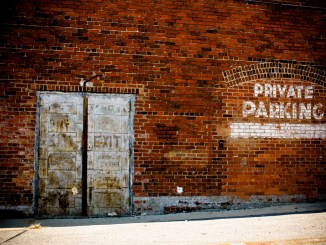 public-domain-images-free-stock-photos-brick-wall-rustic-old-metal-doors-private-parking