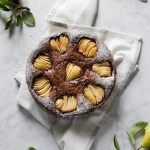 Chocolate and  Pear Crostata