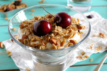 Cherry Granola Greek Yogurt Parfait