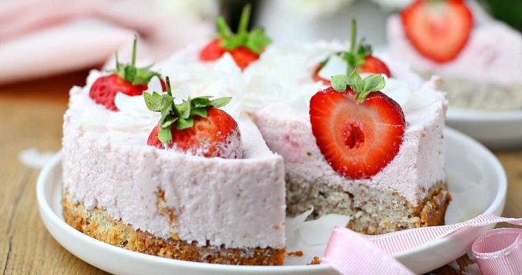 Fluffiger Erdbeerquarkkuchen