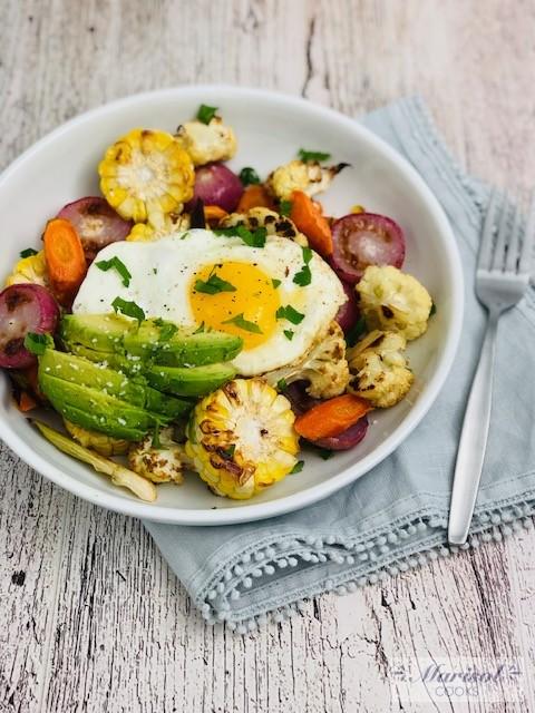 Roasted Veggies Breakfast Bowl