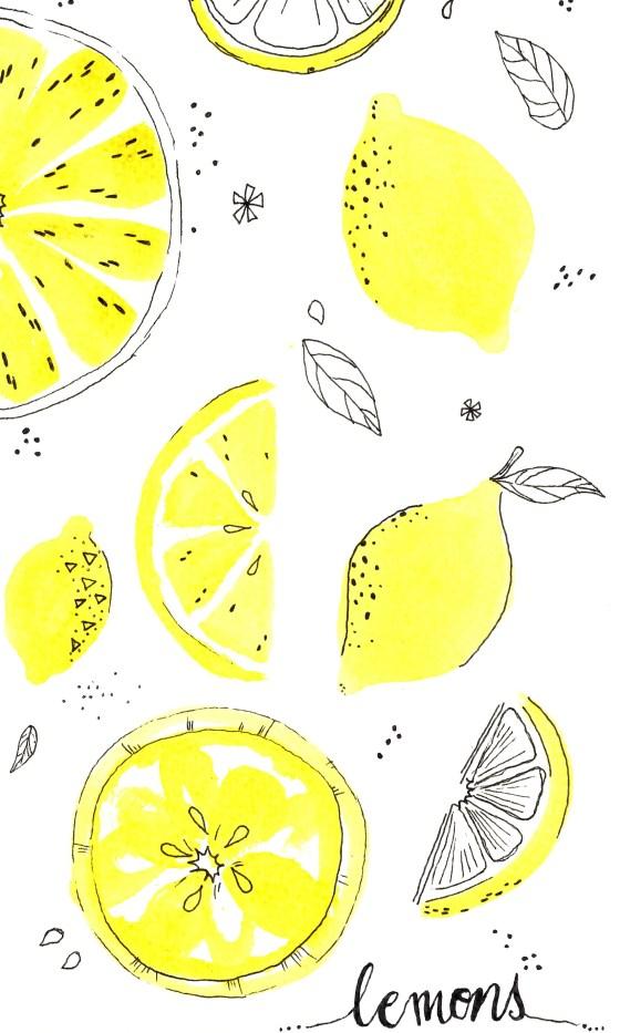 lemons painting