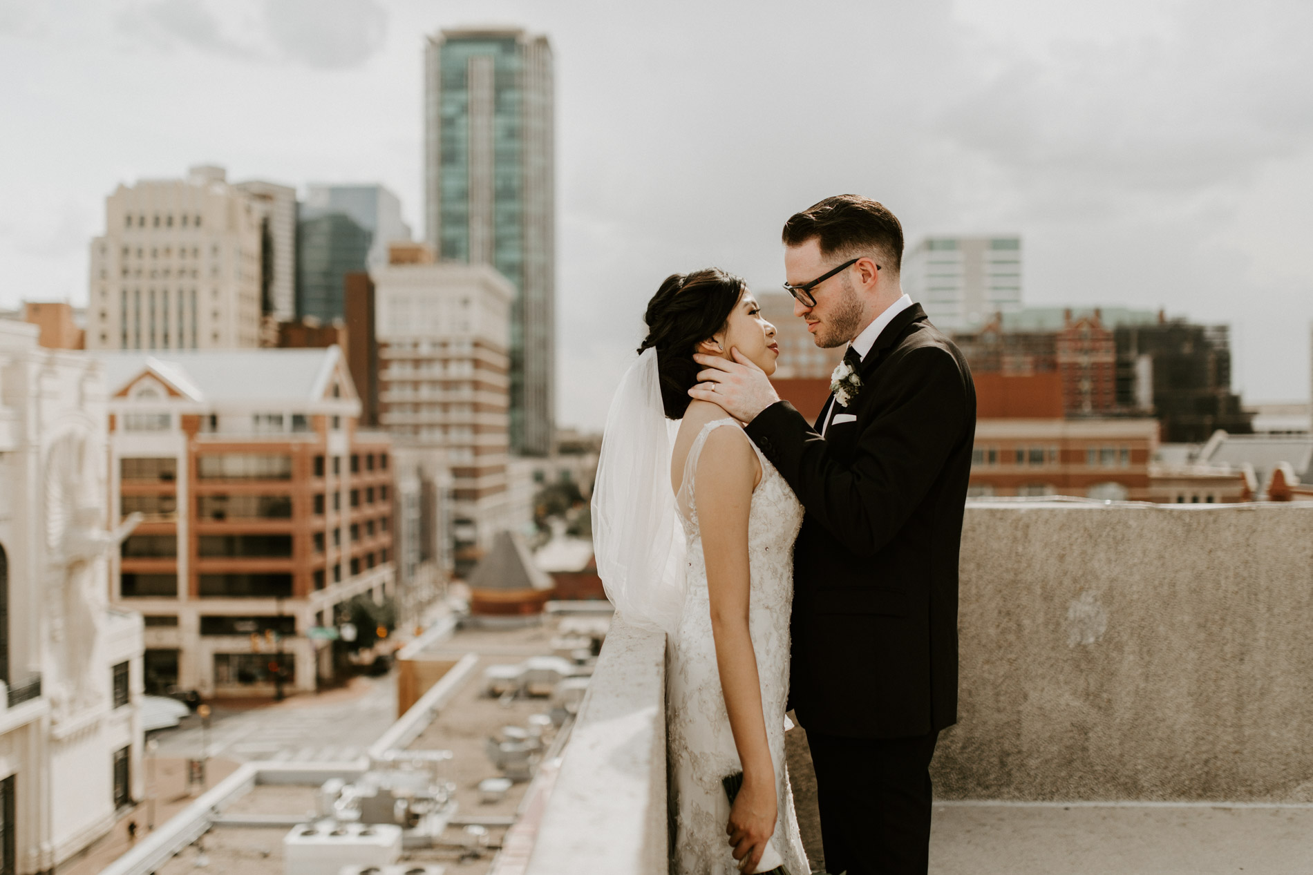 dreamy rooftop wedding photographer Fort Worth