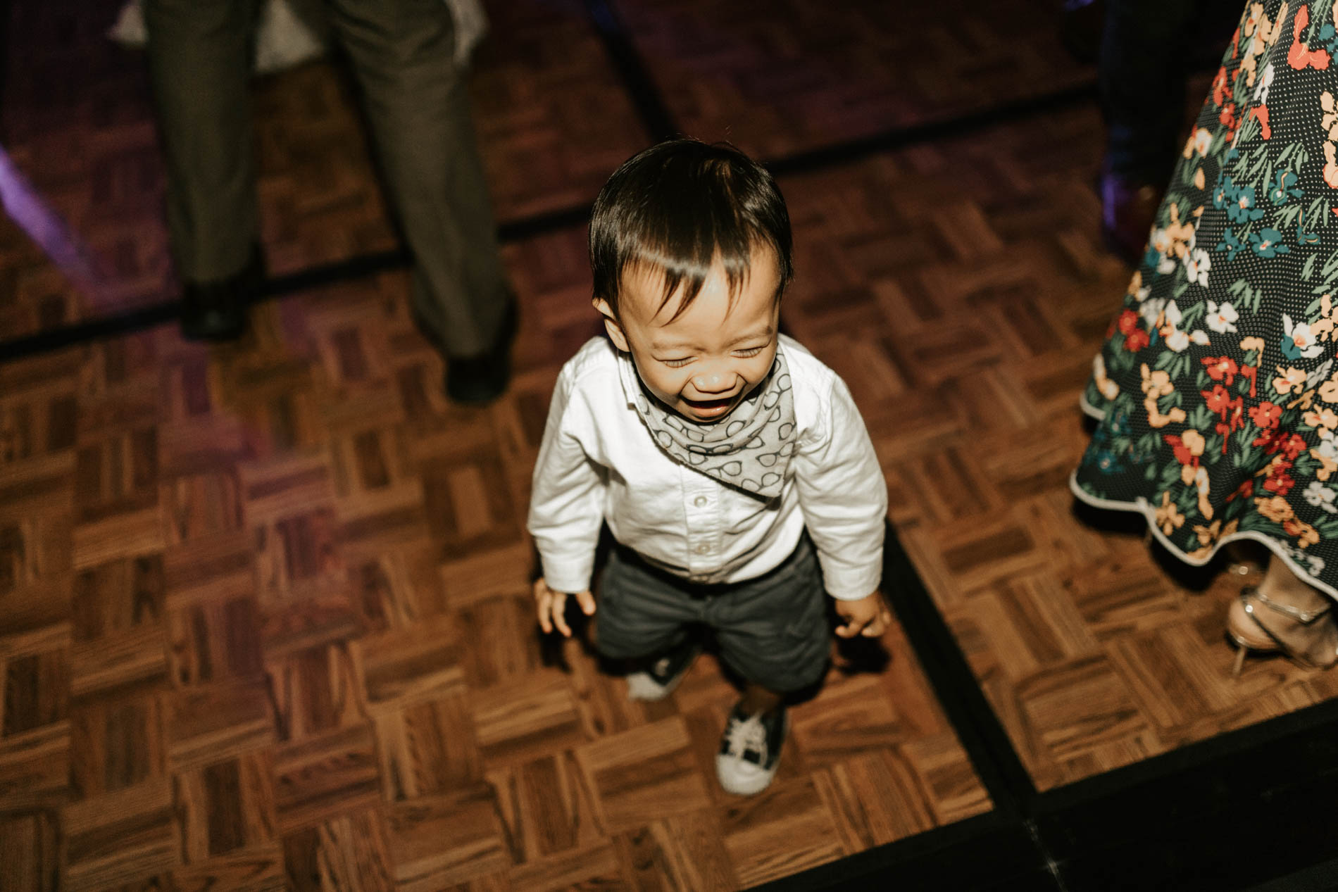 cute kid dancing wedding reception dfw