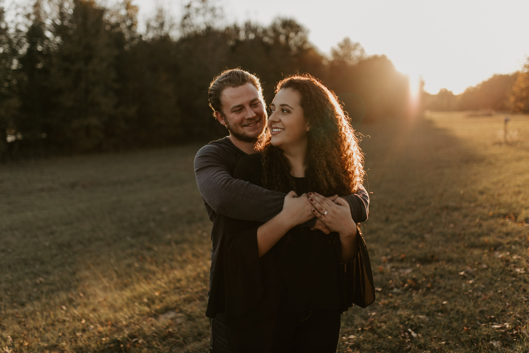state park nature reserve engagement photos