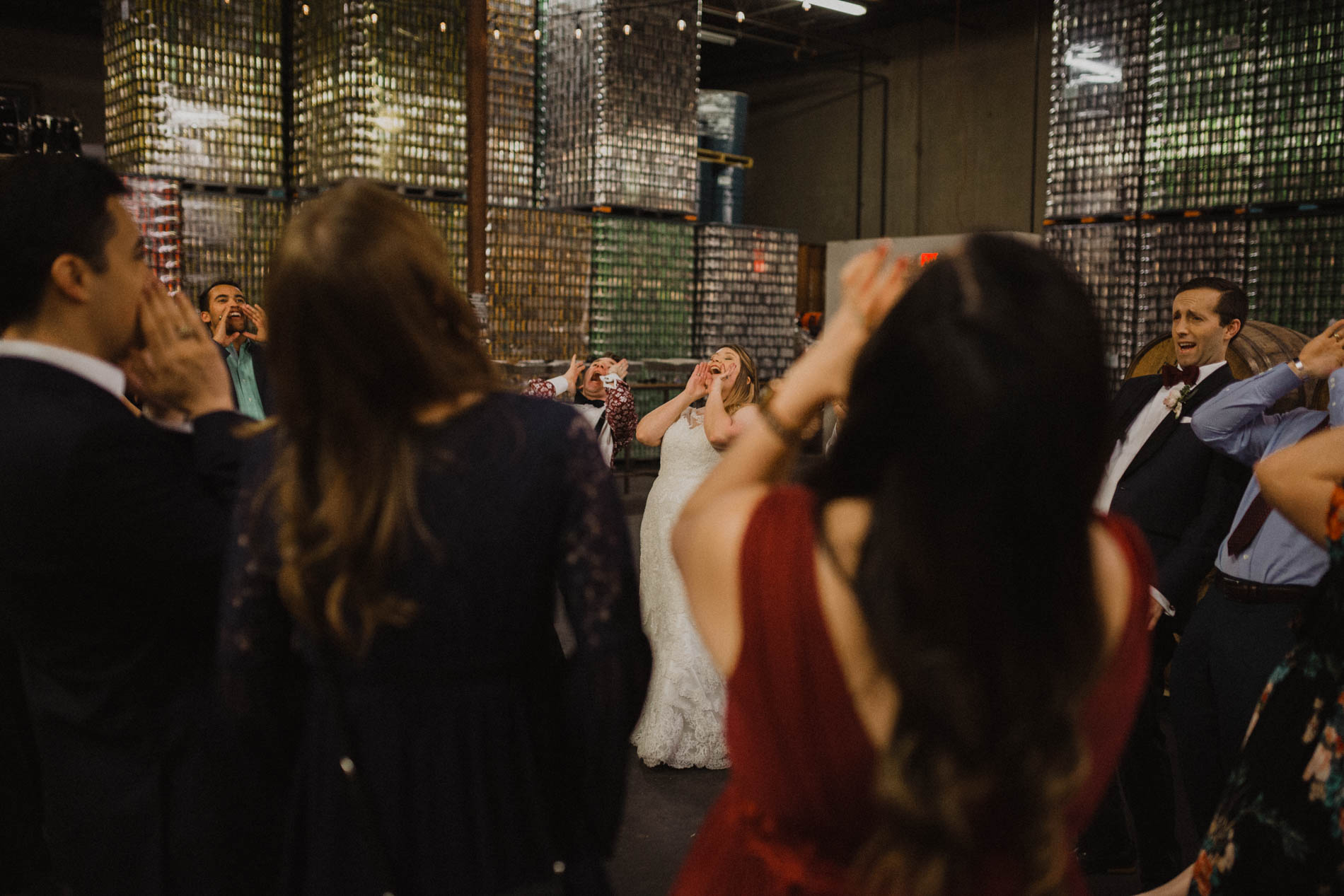 Aggie chant at wedding reception