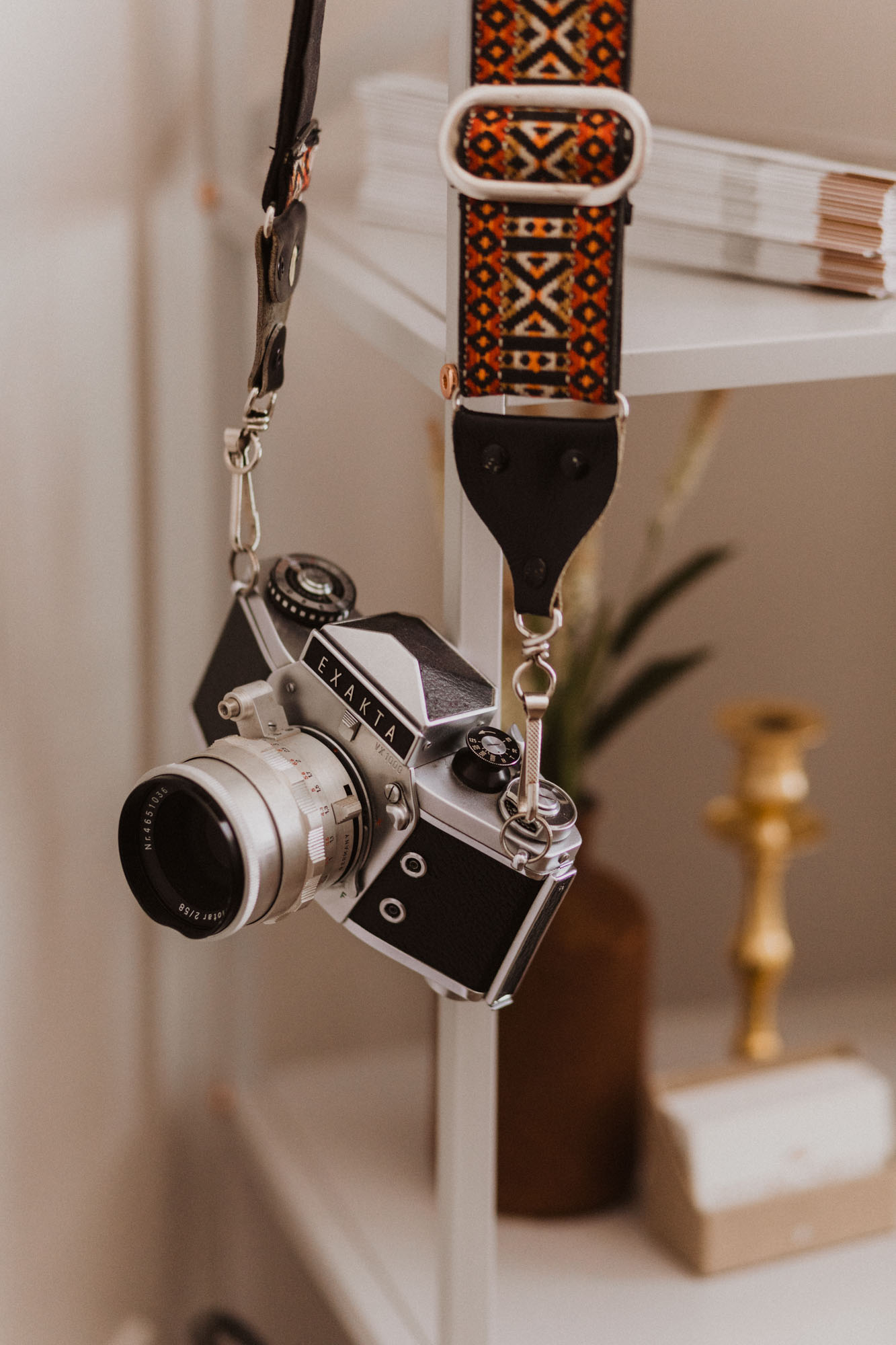 vintage old camera used as photography office decor