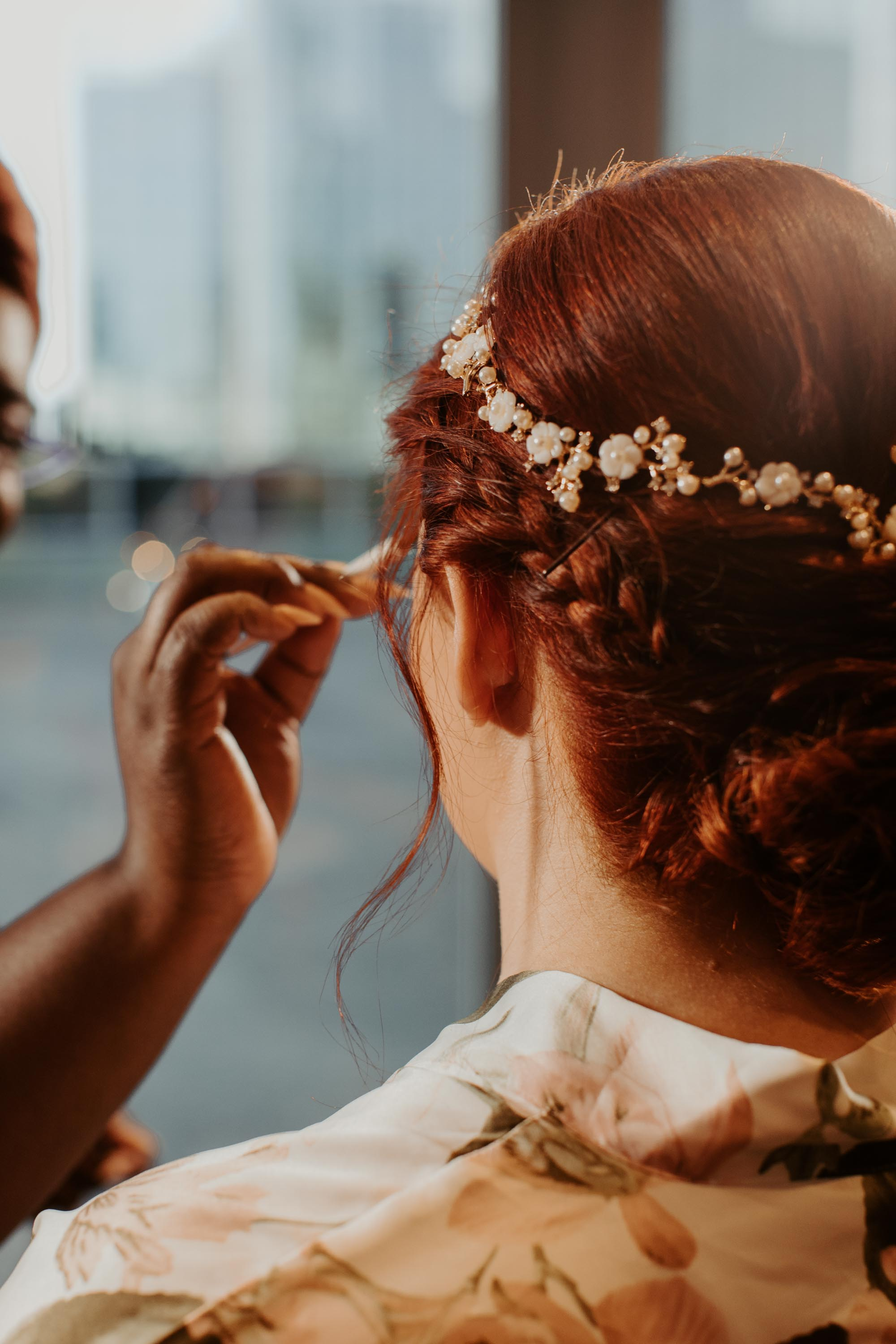 Bride getting ready close up Fort Worth texas