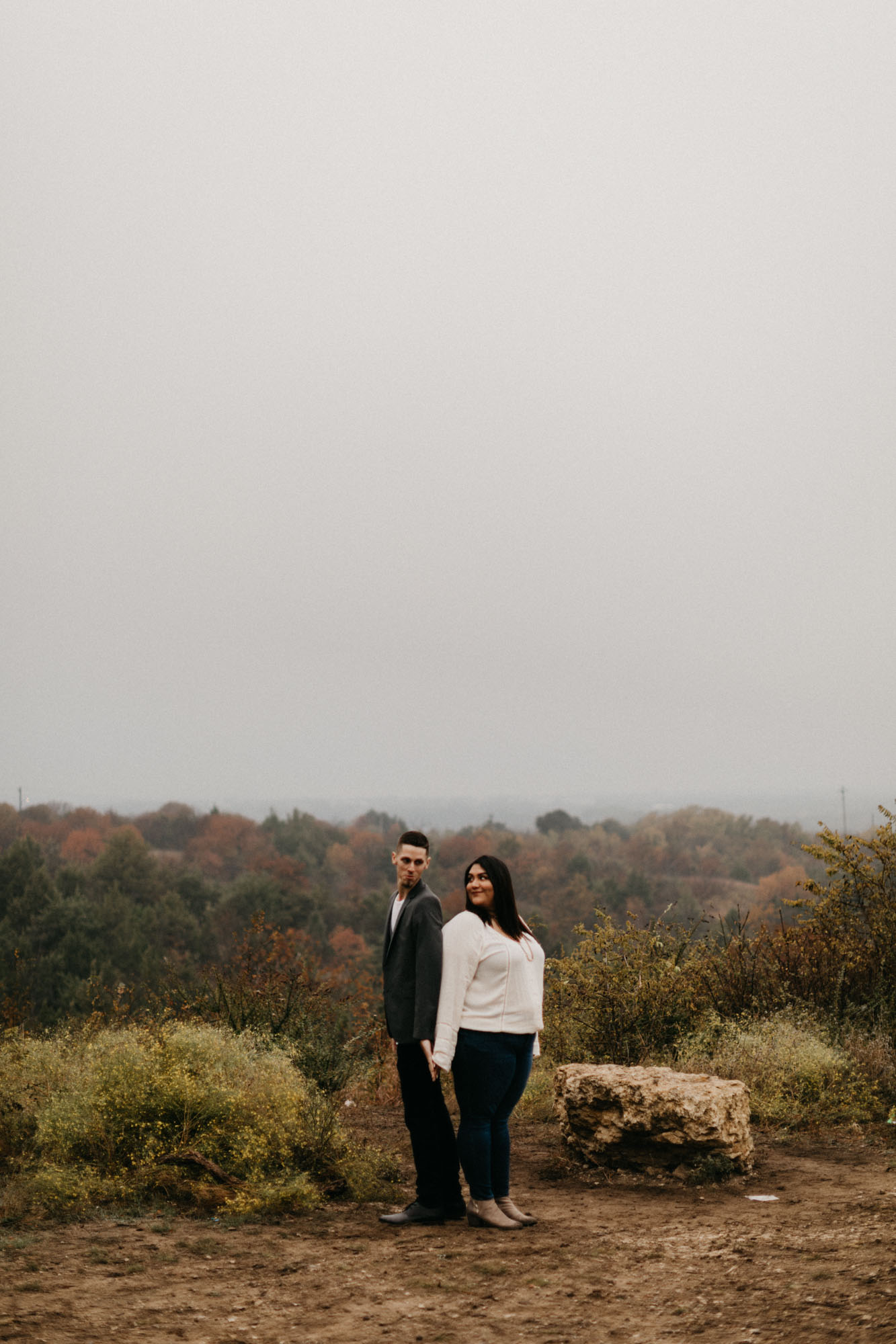 couple on top of hill