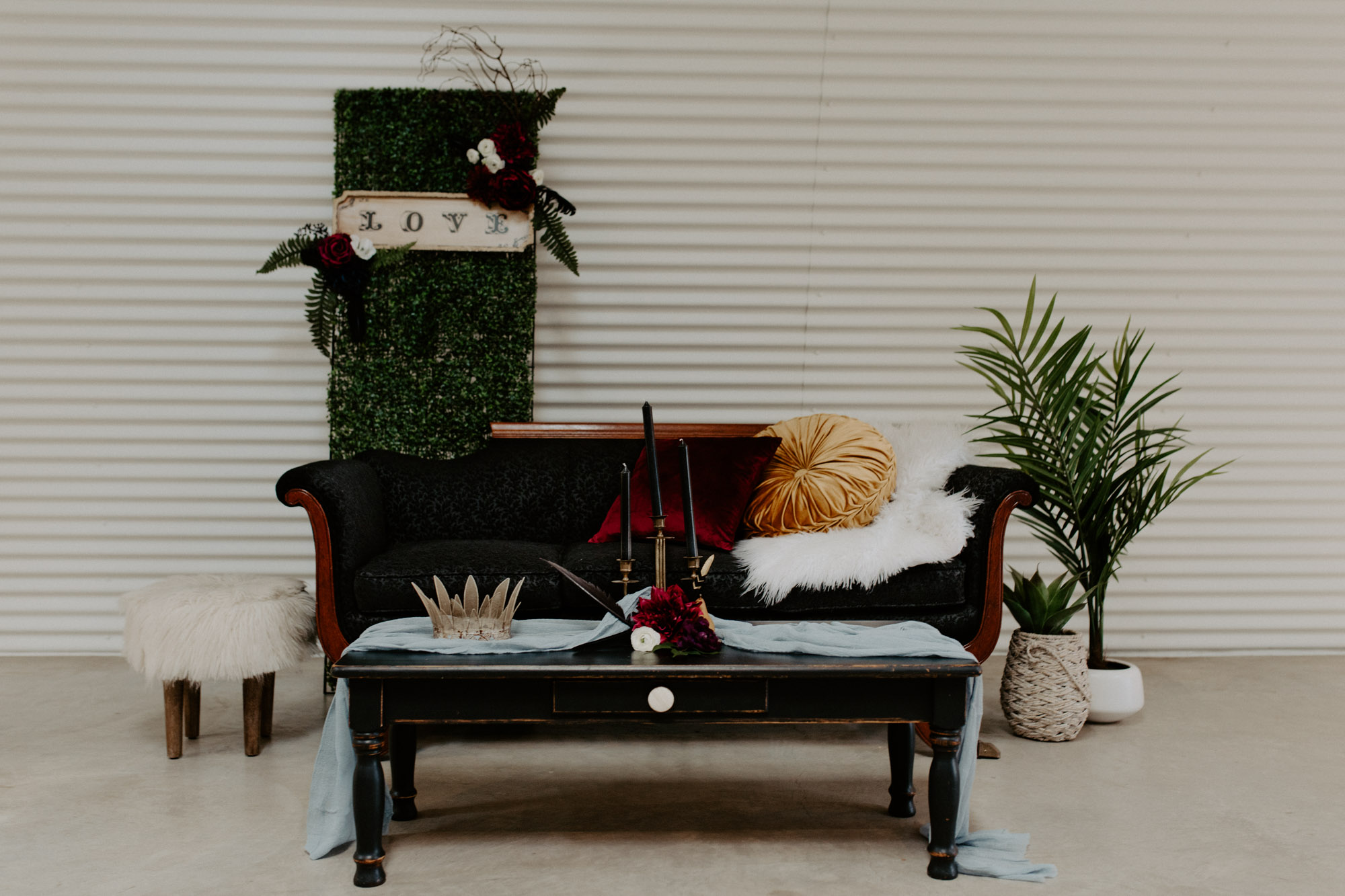 styled shoot moody seating area inspiration
