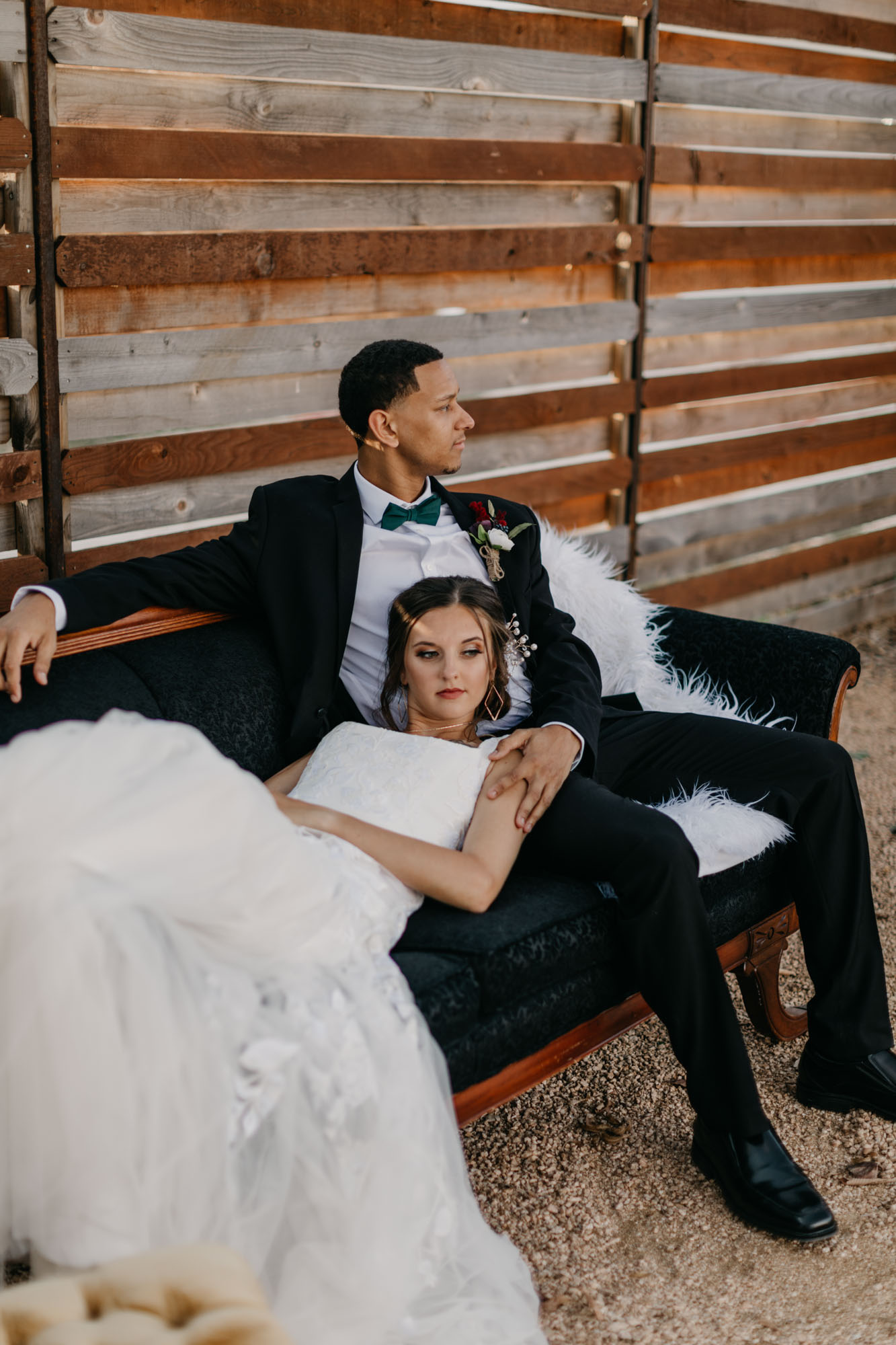 beautiful couple at styled shoot in Fort Worth