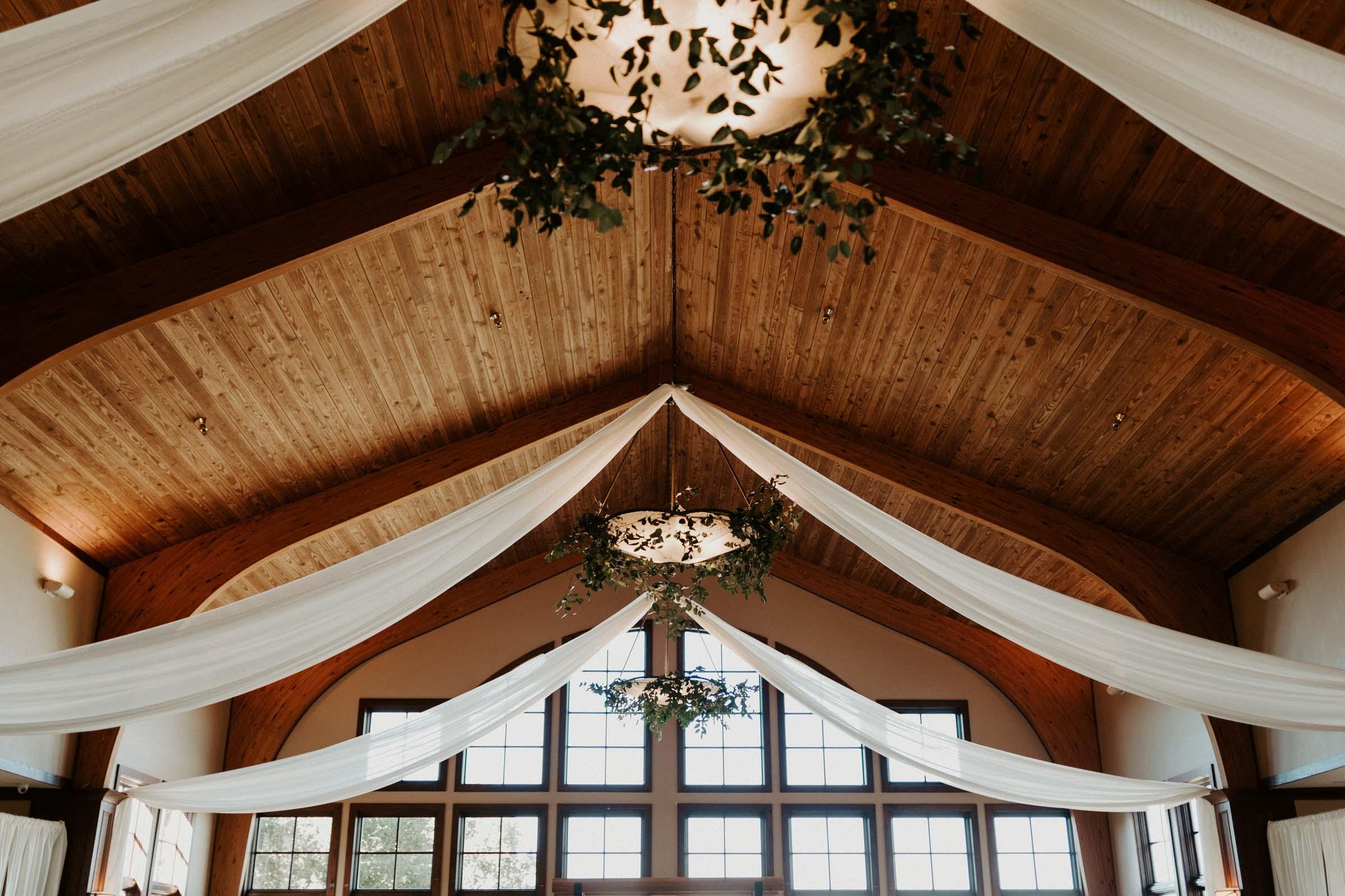 Stunning wedding venue decor space