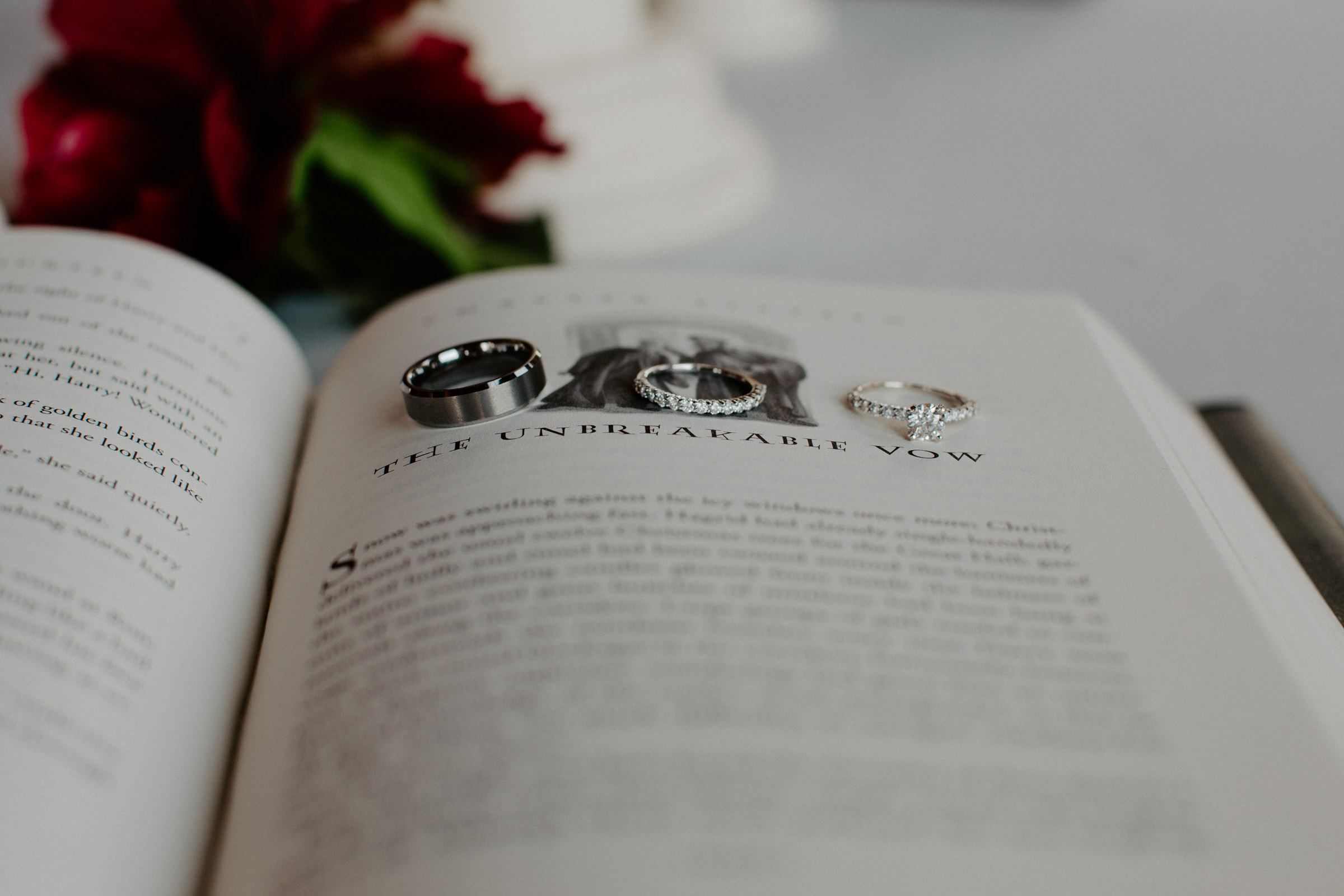 harry potter unbreakable vow with wedding rings on wedding day in DFW