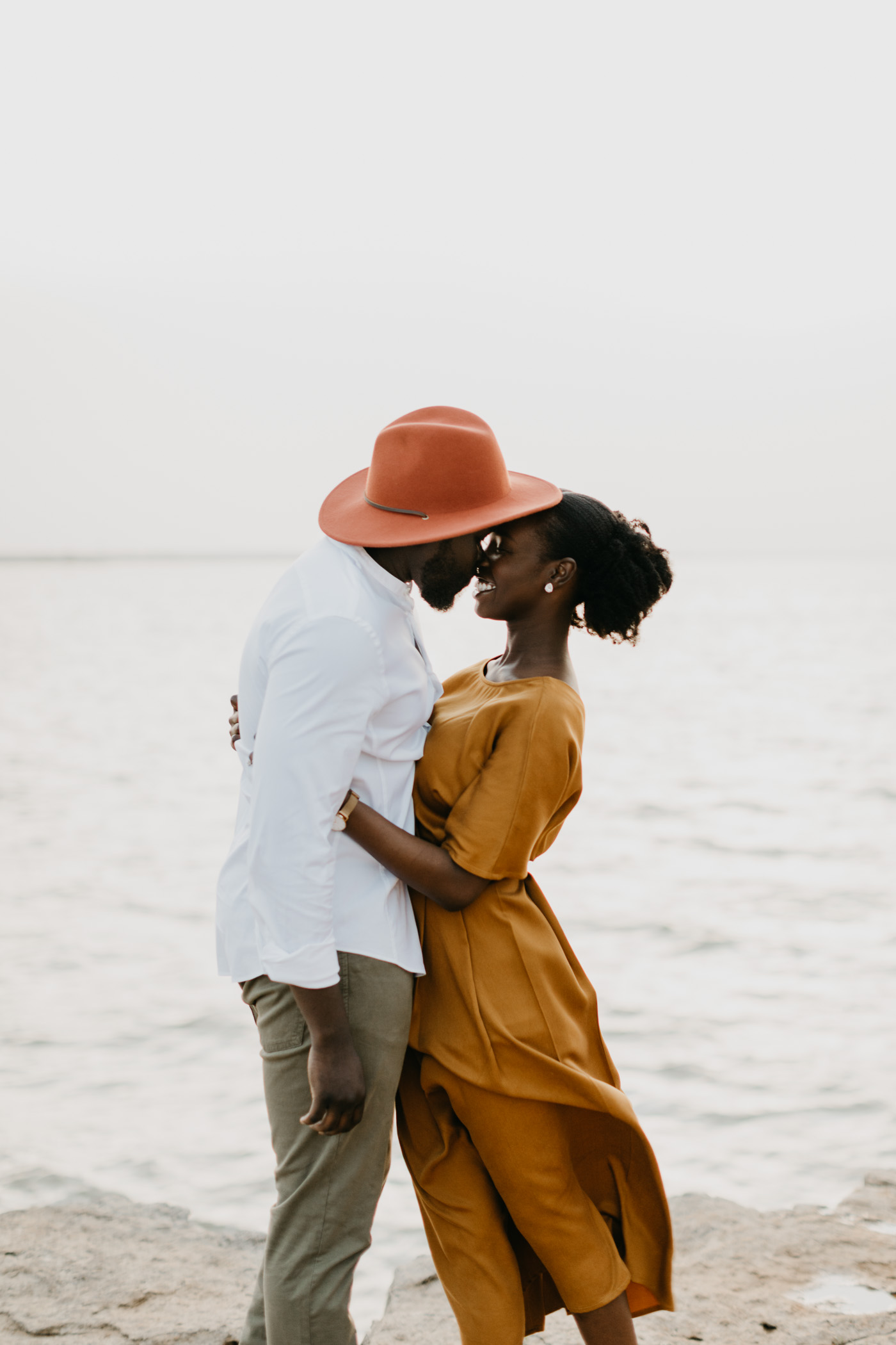Couple being romantic during an anniversary session in DFW