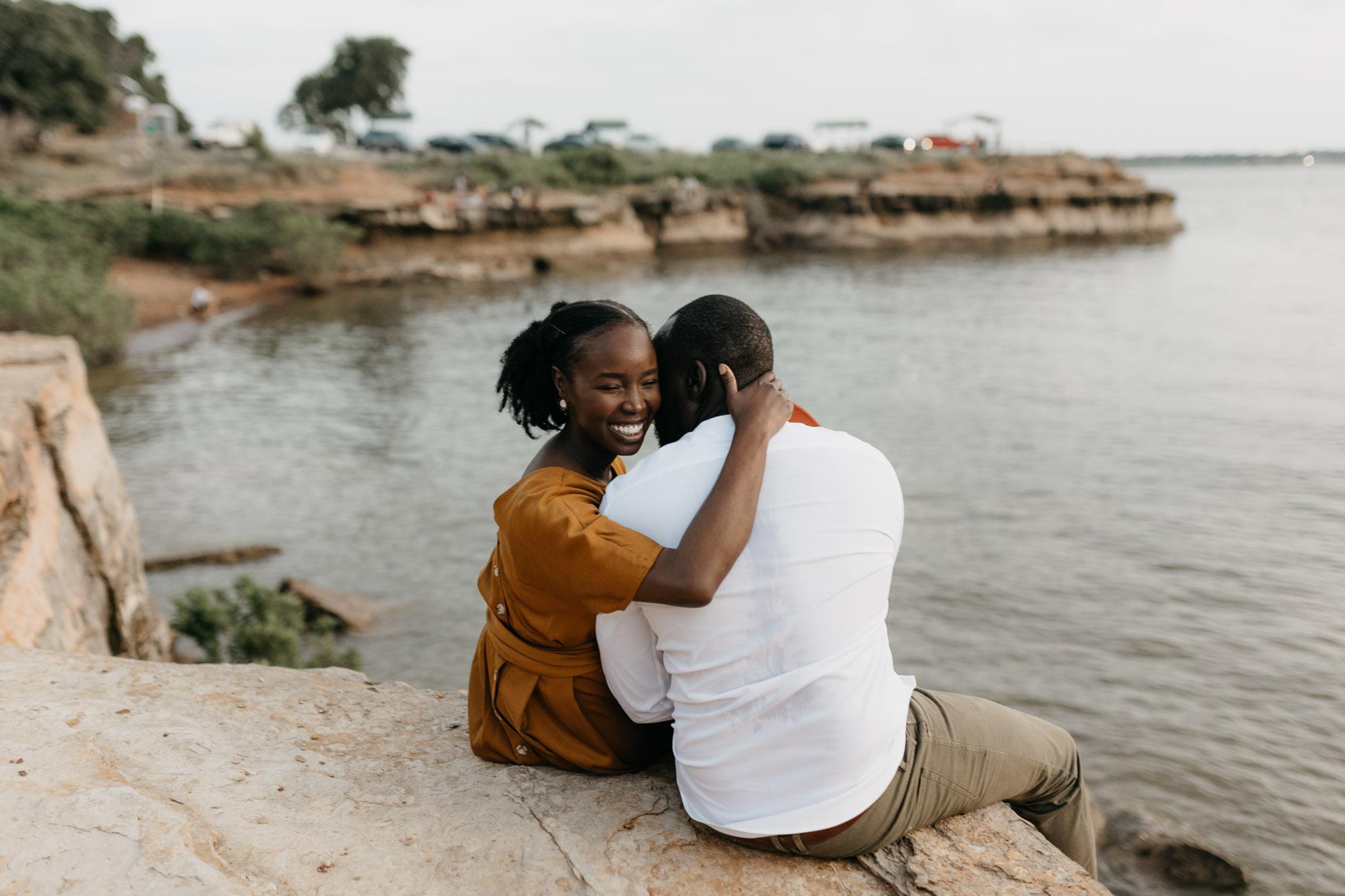 romantic anniversary celebration at rock ledge park in grapevine tx